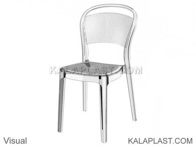 صندلی بدون دسته پلی کربنات ویژوال ساخت اسپانیا