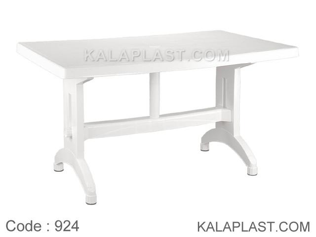 میز 6 نفره مستطیل متوسط پلاستیکی کد 924