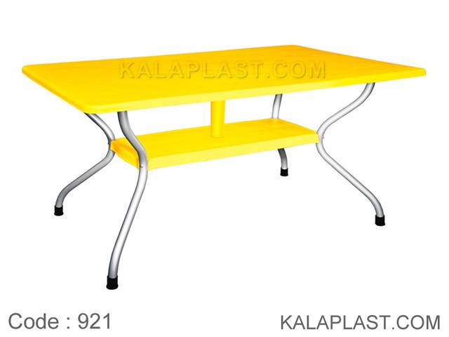 میز 6 نفره مستطیل پایه فلزی کد 921