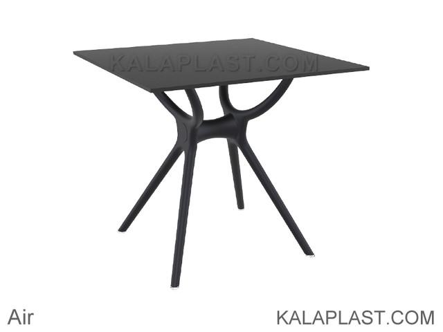میز 4 نفره مربع صفحه HPL اِیر ساخت ترکیه