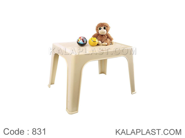 میز کودک و عسلی پلاستیکی یک تکه