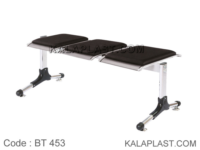 صندلی انتظار 3 نفره پانچ بدون پشتی با تشک کد BT453