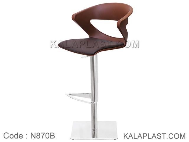 صندلی کانتر جکدار کیکا تشکدار با پایه مربع استیل