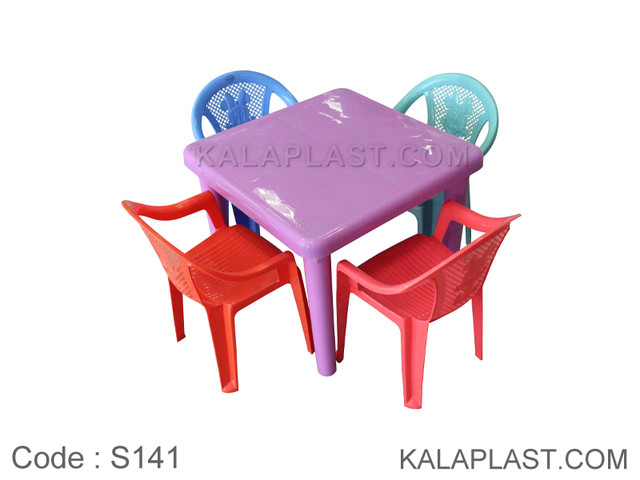 ست میز و صندلی کودک 4 نفره کد S141