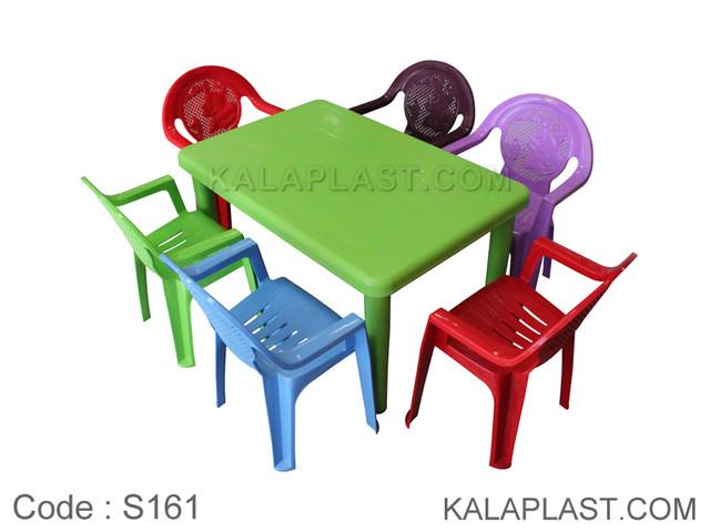 ست میز و صندلی کودک 6 نفره کد S161