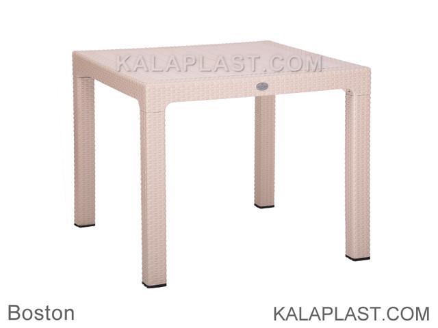 میز 4 نفره مربع پلاستیکی بوستون 90×90 سانتیمتر