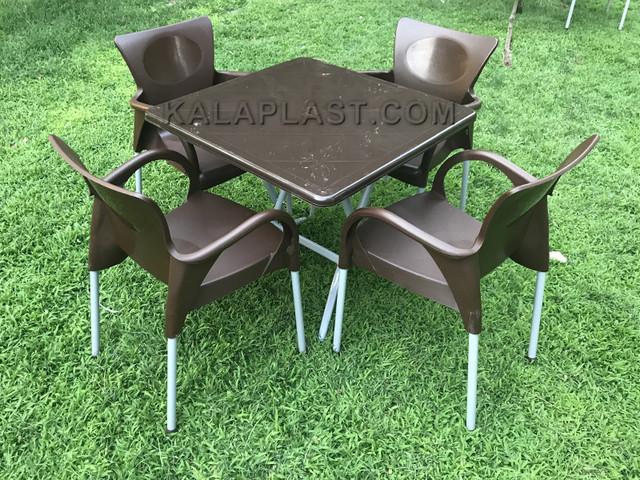 ست میز و صندلی 4 نفره دینا کد S479