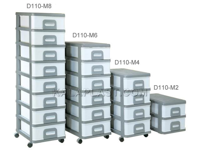 فایل متوسط با کشوهای باریک دل آسا D110-M