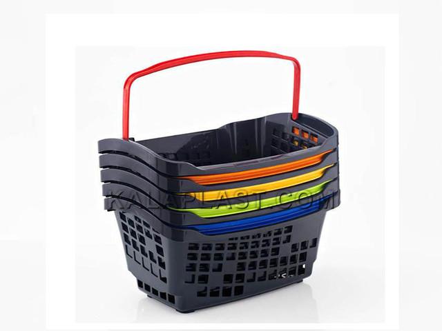سبد خرید فروشگاهی  دسته دار 20 لیتری پلاستیکی اسپانیایی