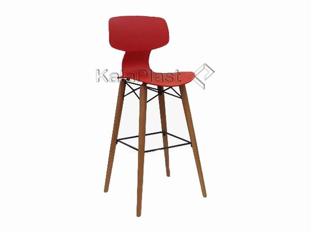 صندلی کانتر یوگو با پایه چوبی