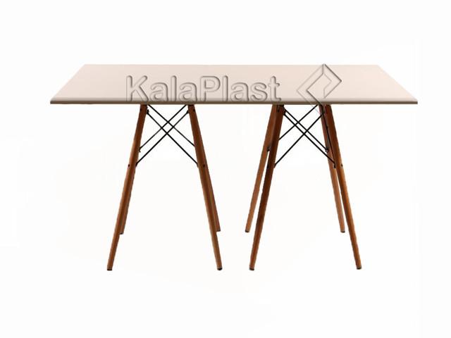 میز 6 نفره TI با پایه چوبی ایفلی