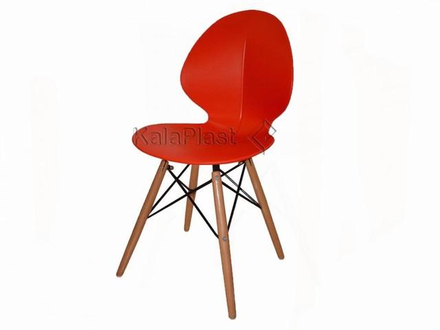 صندلی بدون دسته سلنا با پایه چوبی