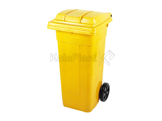 سطل زباله پلاستیکی 120 لیتری چرخدار ناصر کد 5120