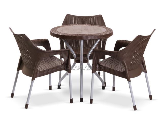 ست میز و صندلی سه نفره لیون 991422