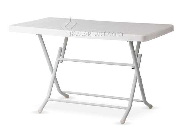 میز 6 نفره مستطیل تاشو با پایه فلزی کد 2640