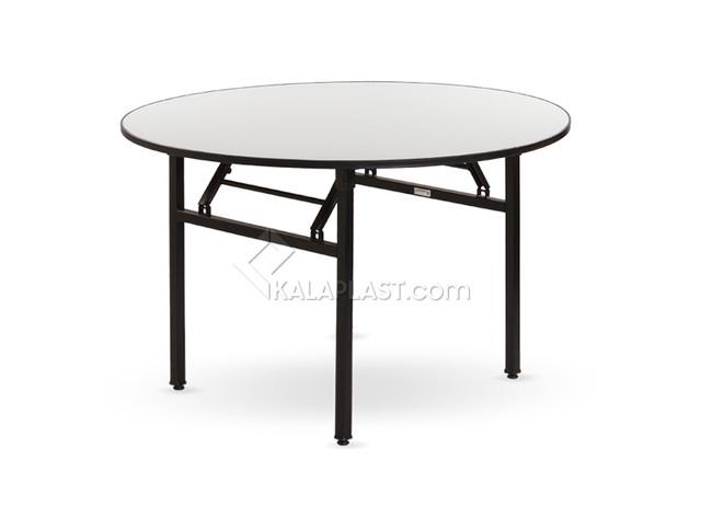 میز 4 نفره دایره تاشو رینو قطر 120 سانت