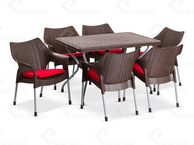 ست میز و صندلی 6نفره موکا کد 991621