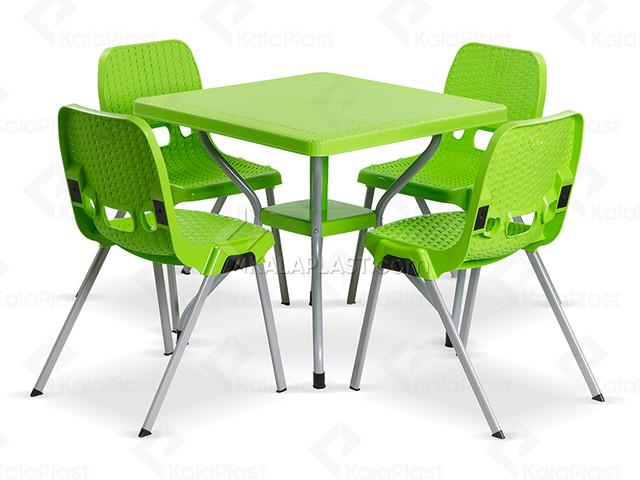 ست میز و صندلی 4 نفره ساحل کد 881623
