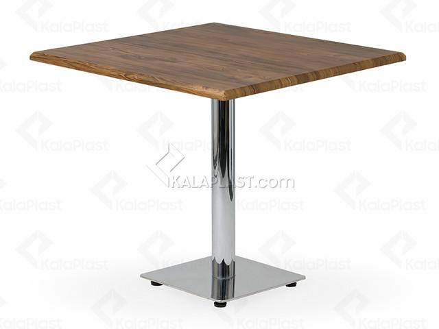 میز 4 نفره مربع صفحه PVC با پایه استیل کد G492