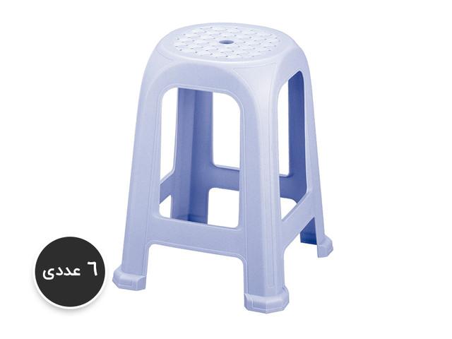 پک 6 عددی چهارپایه پلاستیکی کد 838