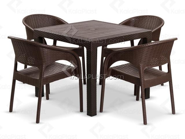ست میز و صندلی 4 نفره ورونا کد 992323