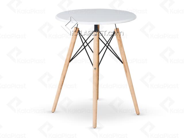 میز 2 نفره گرد ایمیز با صفحه MDF روکش PVC