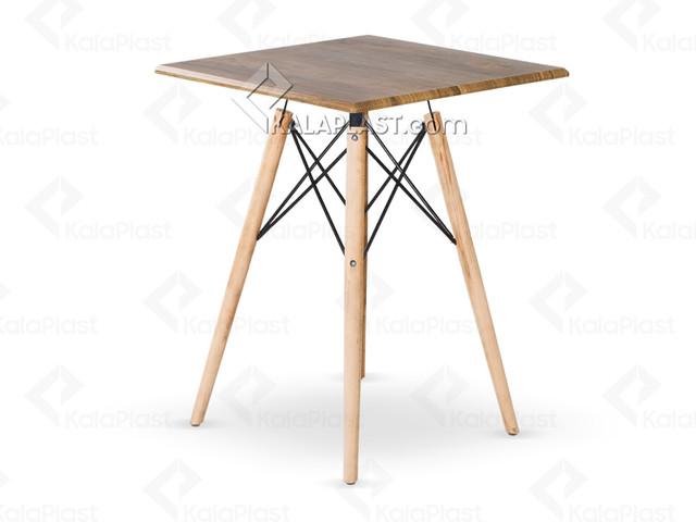 میز 2 نفره مربع ایمیز با صفحه MDF روکش PVC