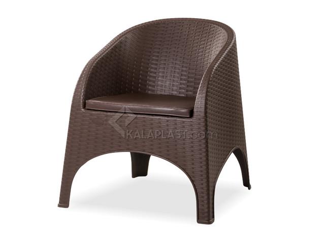 صندلی مبلی حصیری پلاستیکی با تشک آروبا کد890