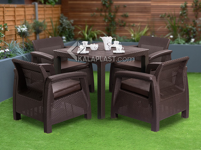 ست میز و صندلی ۴ نفره آریکا