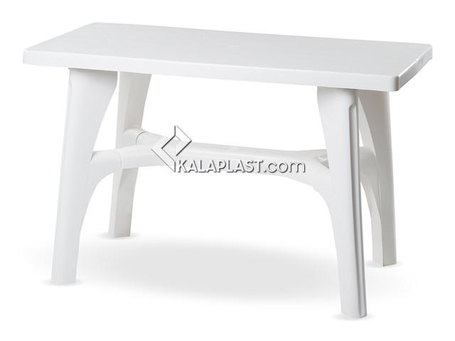میز 6 نفره مستطیل پلاستیکی پا پایه های متصل کد 207