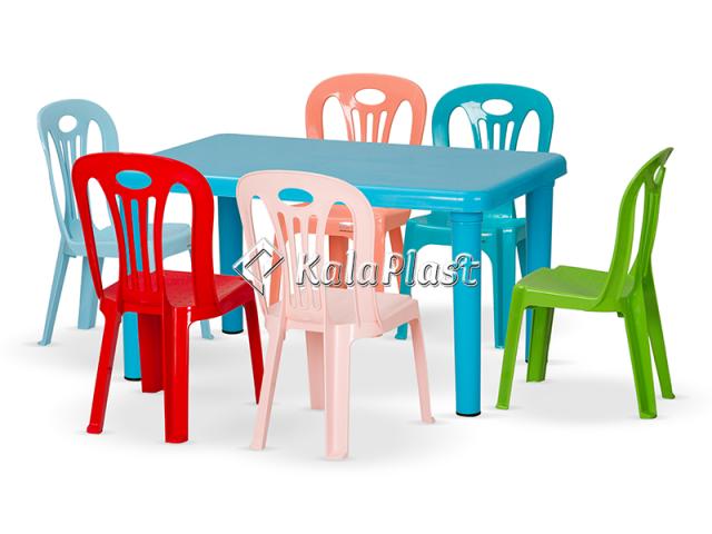 ست میز و صندلی کودک 6 نفره کد S163