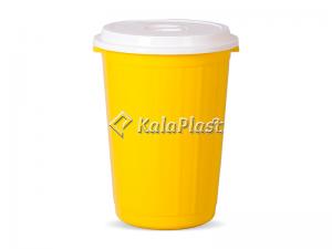 سطل گرد بزرگ دربدار پلاستیکی کد 80