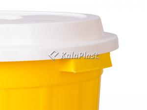 سطل گرد بزرگ 80 لیتری دربدار پلاستیکی