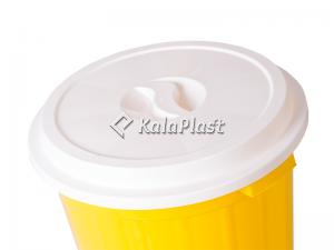 سطل گرد متوسط دربدار پلاستیکی کد 610