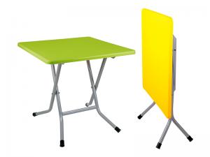 میز 4 نفره مربع تاشو با پایه فلزی کد 2241