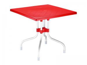 میز 4 نفره مربع تاشو پایه آلومینیومی فورزا کد 770