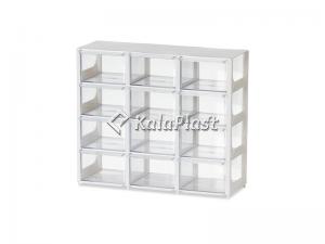 مینی فایل کشویی مربع شفاف بزرگ