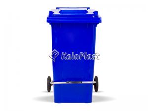 سطل زباله پلاستیکی 240 لیتری چرخدار و پدالدار سبلان