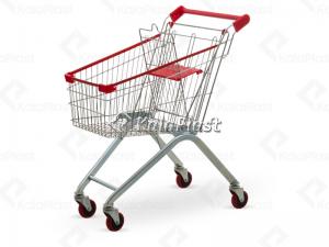 سبد خرید چرخدار فروشگاهی فلزی سایز 60 لیتری