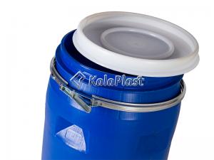 بشکه پلاستیکی 120 لیتری ضخیم با کمربند فلزی جهان