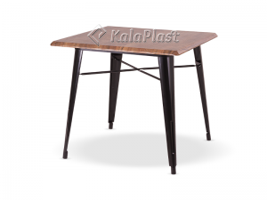 میز 4 نفره تولیکس با پایه فلزی