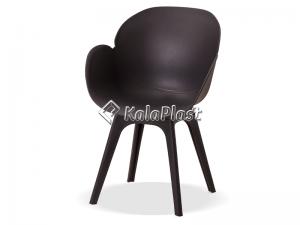 صندلی دسته دار صدف با پایه پلاستیکی