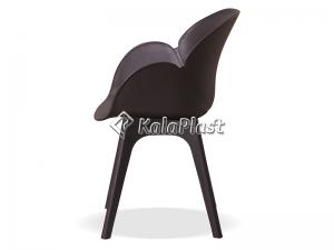 صندلی دسته دار صدف با پایه چوبی گردان