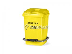 سطل بهداشتی پلاستیکی 12 لیتری پدالدار سبلان