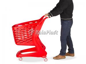 سبد خرید چرخدار پلی کربنات فروشگاهی مات 90 لیتری