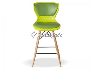 صندلی اپن دیاموند با پایه چوبی و تشک چرمی کد B 600 L