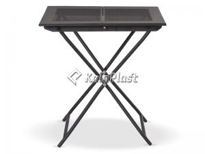 میز تمام فلزی تاشو با رویه فلزی ساده و پانچ