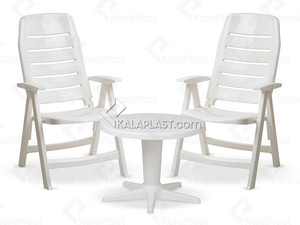 ست 2 نفره ریلکس با صندلی تاشو دسته دار