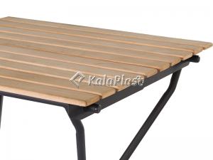 میز تمام فلزی تاشو رویه چوب طبیعی ( ترمو وود )