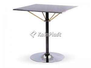 میز فلزی چهار نفره مربع تک پایه